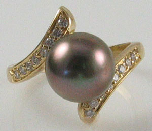 Estate Tahitian Pearl Ring