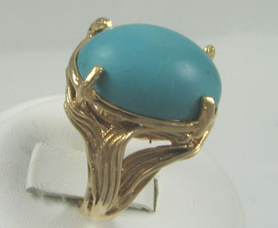 Persian Cabochon Turquoise Ring