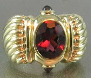 Yurman Tourmaline Gold Ring
